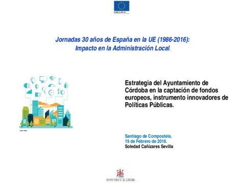 O caso de Córdoba - Xornada 30 anos de España na UE (1985-2015): impacto na Administración local